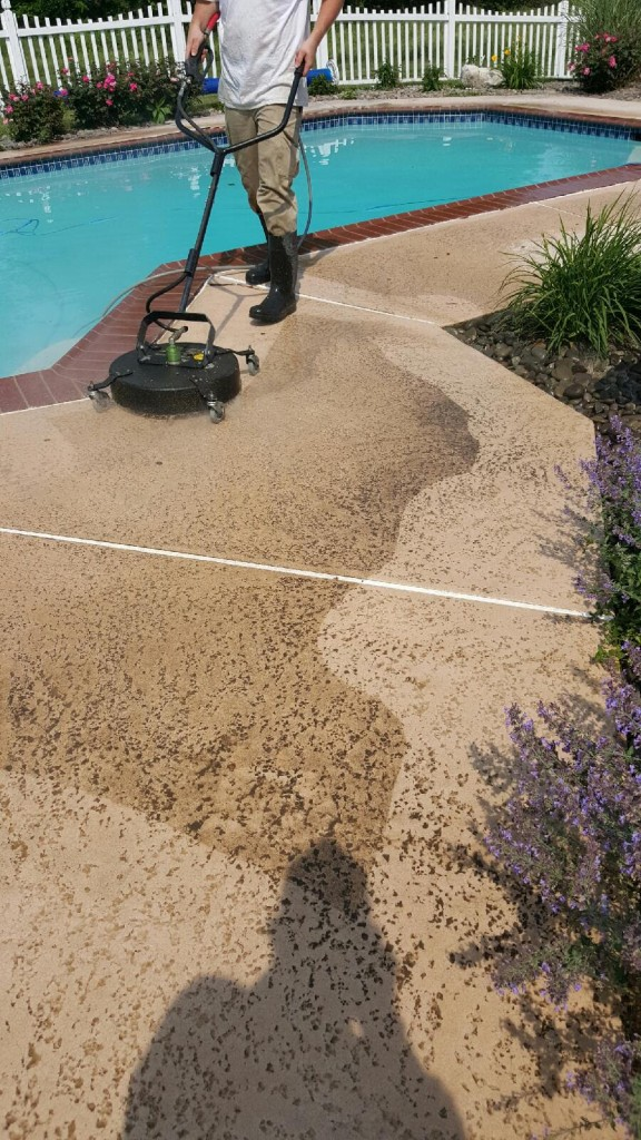power wash pool