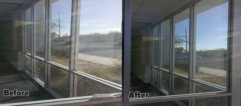 Scratched Window Before and After